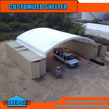 Double truss structure Dome Shipping Container Roof Tent