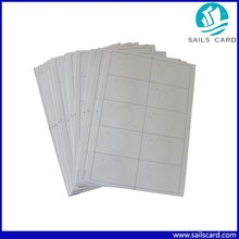 S50 IC card F08 plastic inlay A4 size 2*5 format