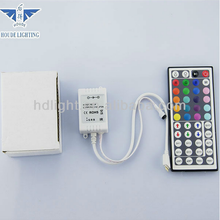 Popular Decoration WHOLESALE PRICE OEM&HOUDE IR Remote Controlled SMD3528 RGB LED Strip Light with 44Key IR Remote Controller