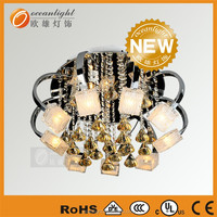 crystal beads flower modern lobby 60x60 ceiling light LM-OM9450 (3)