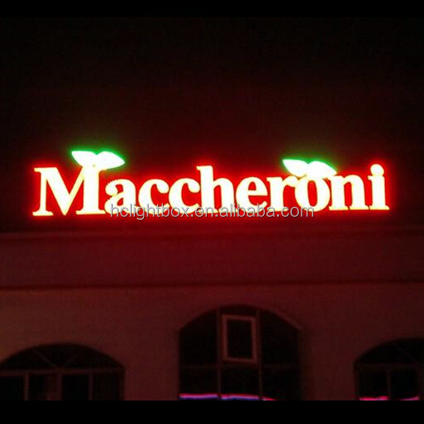 shop led sign outdoor illuminated signage front lit led logo sign