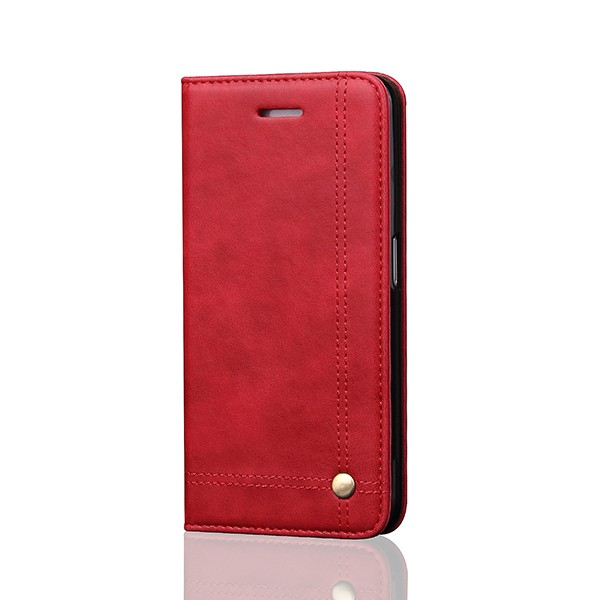 LNT7001 Customized Logo Hidden Strong Magnet Rivet Back Cover Leather Case for Samsung Galaxy Note 7
