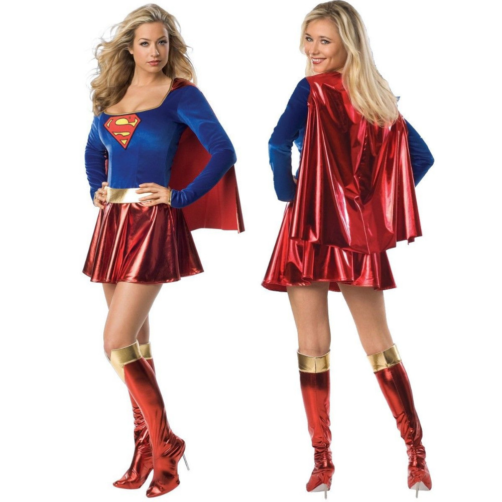 get quotations 2015 new supergirl adult women sexy superwoman superhero halloween costume hot cosplay costumes