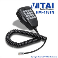 VITAI HM-118TN High Performence FM Transceiver Speaker Microphone For IC-2200H IC-2720H IC-2725E IC-V8000 Model