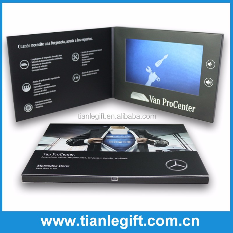 "Printable 7"" Inch customized video brochure card"