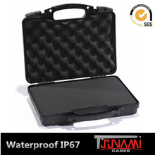 Superior quality hard plastic short gun carrying case pistol case
