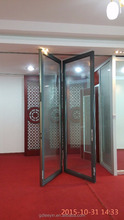customized soundproof folding glass doors for room divider partition