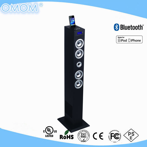 OHM-1608 2.1ch tower speaker with docking station for smartphone