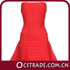 2014 teenage cocktail dresses strapless red A line design partywear