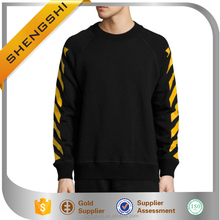 Custom sweatshirts no minimum mens striped long sleeve tee shirts
