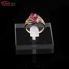 jewelry shop countertop window showcase clear jewelry ring display holder stand rack jewelry block for ring