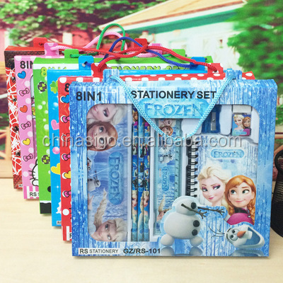 5pcs frozen stationery sets, China stationary sets for schools