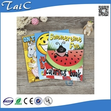 Cartoon animal filling book with stickers/kids color filling book with stickers/painting book with stickers