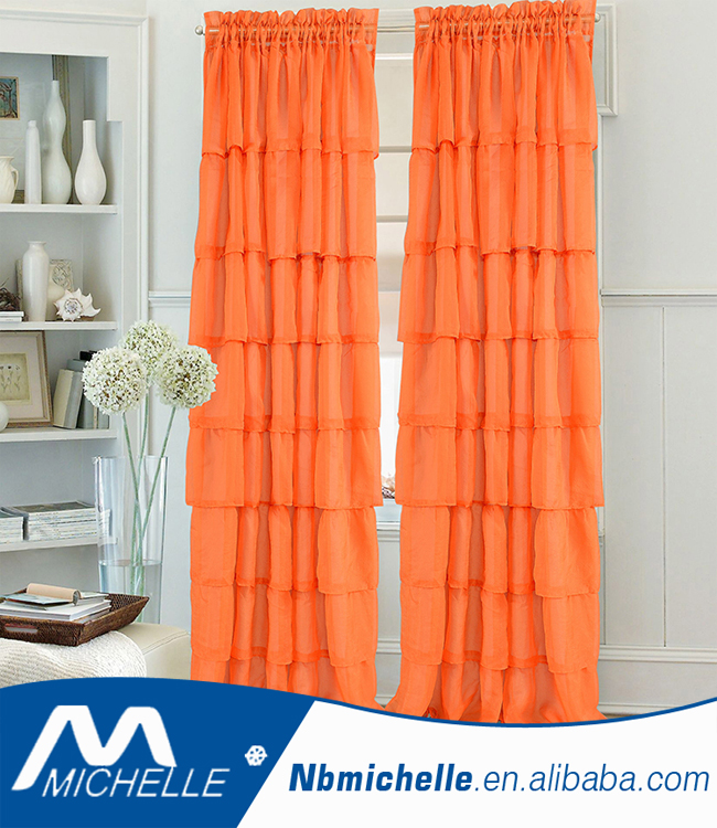 window curtain for America market solid sheer cheap window curtains