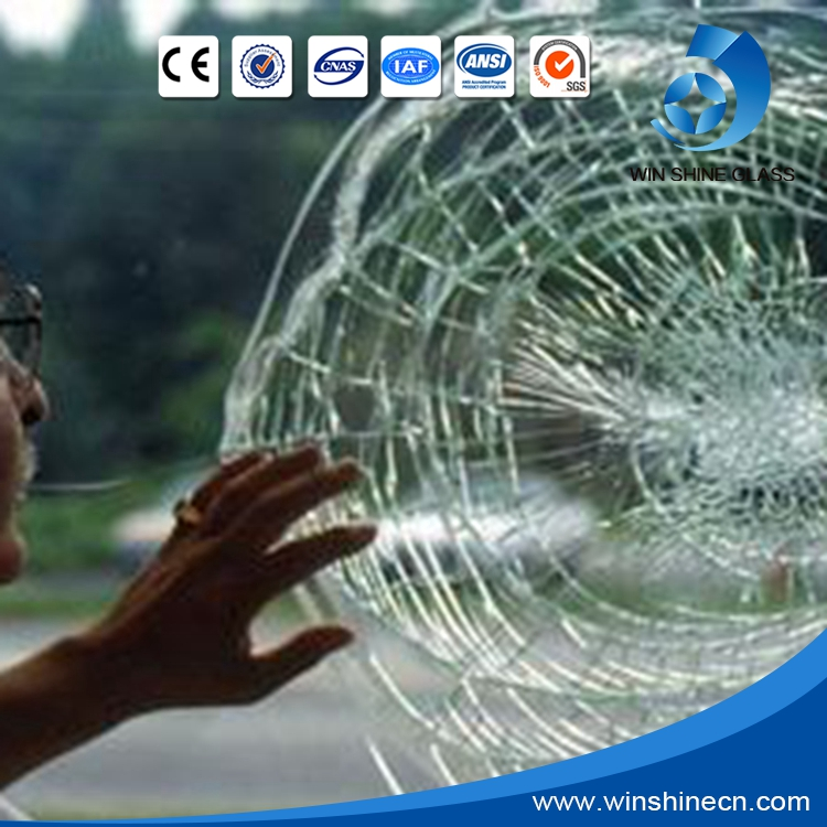 Bulletproof glass price (laminated glass, glass+PC) used for car, bank