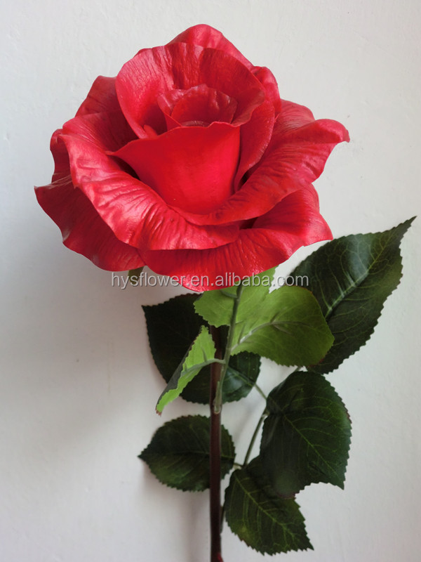 High-quality real touch red roses ,artificial red roses PU flower