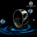 New 2016 Wholesales High Quality Luxury Men's Smart Real Carbon Fiber Ring
