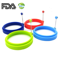 4 packs silicone egg cook ring fried eggs rings mold/ silicone pancake molds/ silicone egg rings