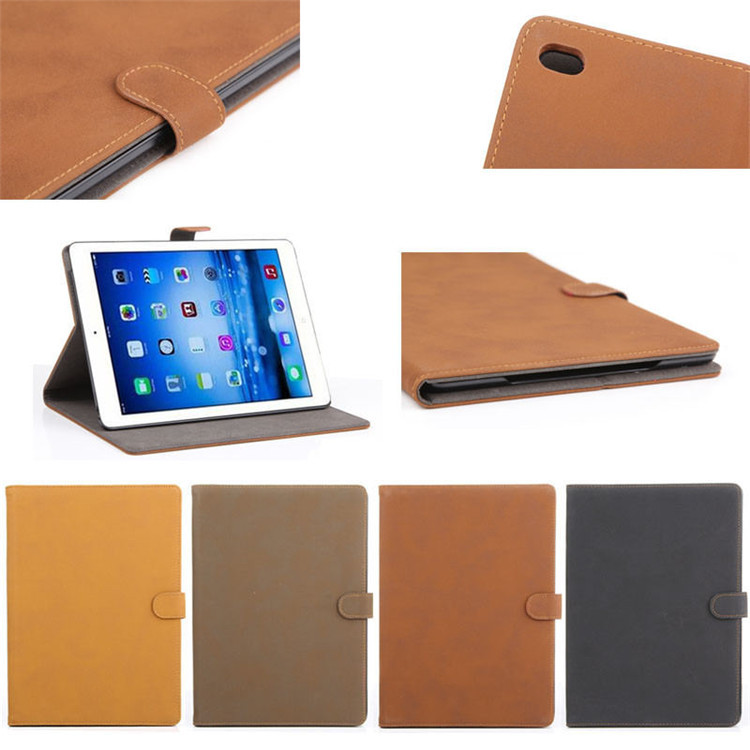 For ipad air 2 case retro style, pu leather cover case for ipad air 2, flip cover for iPad 6