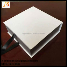 Pearl Silver Large Gift Boxes with grosgrain ribbon/ gift boxes with magnetic lid