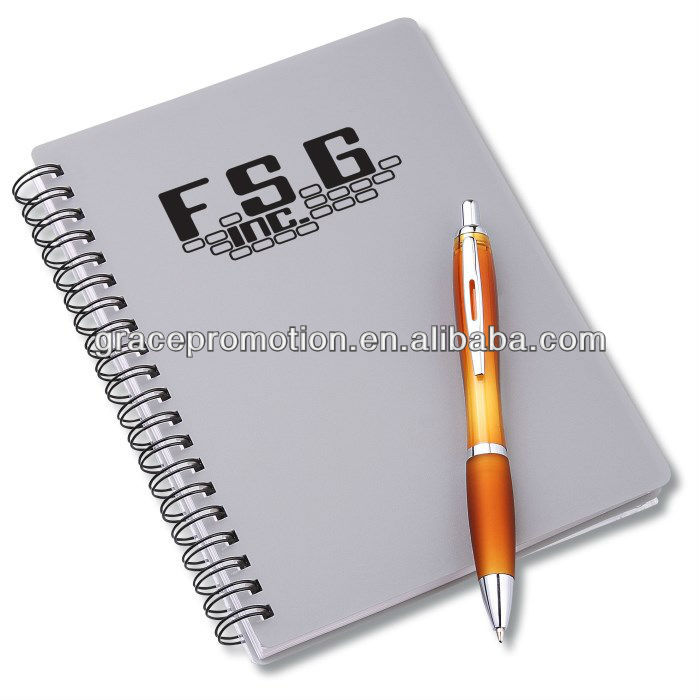 Promotional cheap paper notebook with pen inside for wholesale