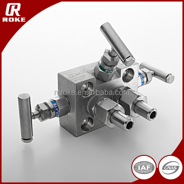 High Quality Stainless Steel 3-Valve Manifolds Water Manifolds from Nantong Roke