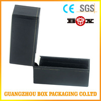 Magnetic Closure Matte Black Foldable Paper Packaging Box/ Flat Foldable Cardboard Gift Box/ Foldable Magnetic Box