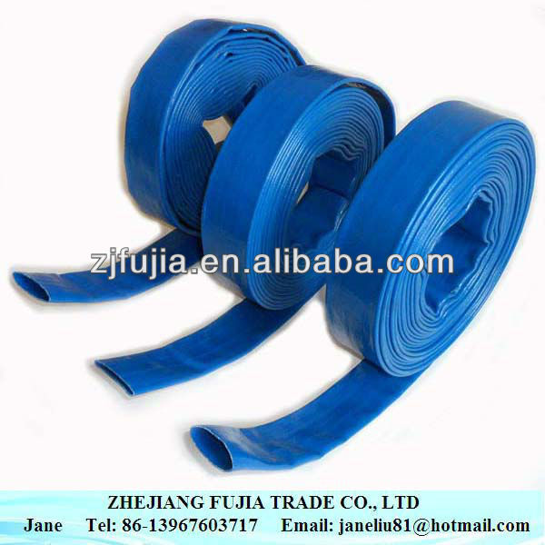 flexible PVC lay flat water irrigation tubes / hose