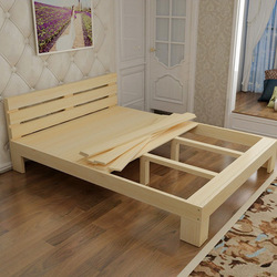 Hot sale factory direct price wood double bed designs