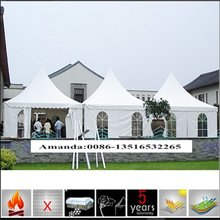 New coming super quality aluminum frame pvc pagoda tent