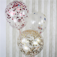 36 Inch Giant Clear Confetti Party
