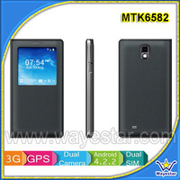 China Cheap 1G Ram 3G Android 4.2 Smartphone 5.5 inch IPS Touch Dual SIM WIFI Bluetooth Skype Video