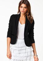 UK NEW LADIES CASUAL JACKET COAT PLUS SIZE WOMENS BUSINESS SLIM BLAZER SUIT
