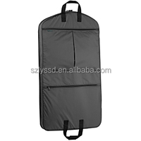 Buy eco-friendly non woven fabric suit cover with zipper for storage