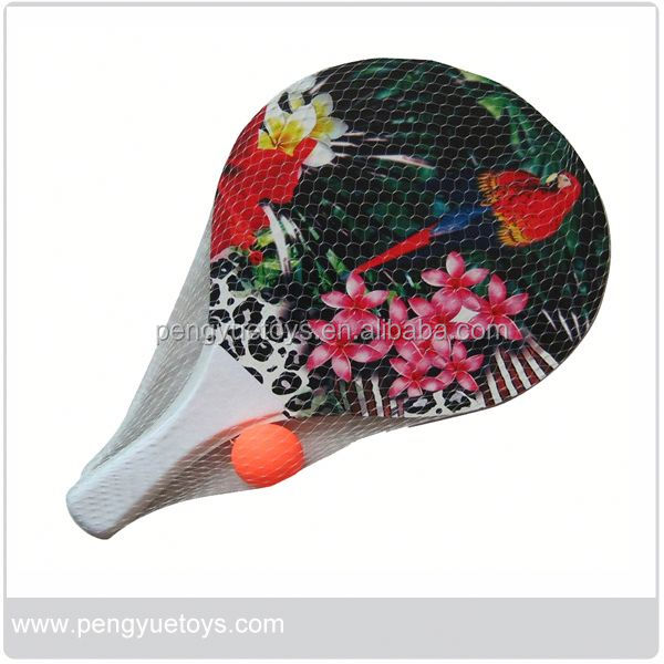 Wooden Beach Racket With Soft Handle