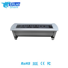 Multimedia office data center Electric flip up desktop inteligent power socket with shutter for conference room meeting room