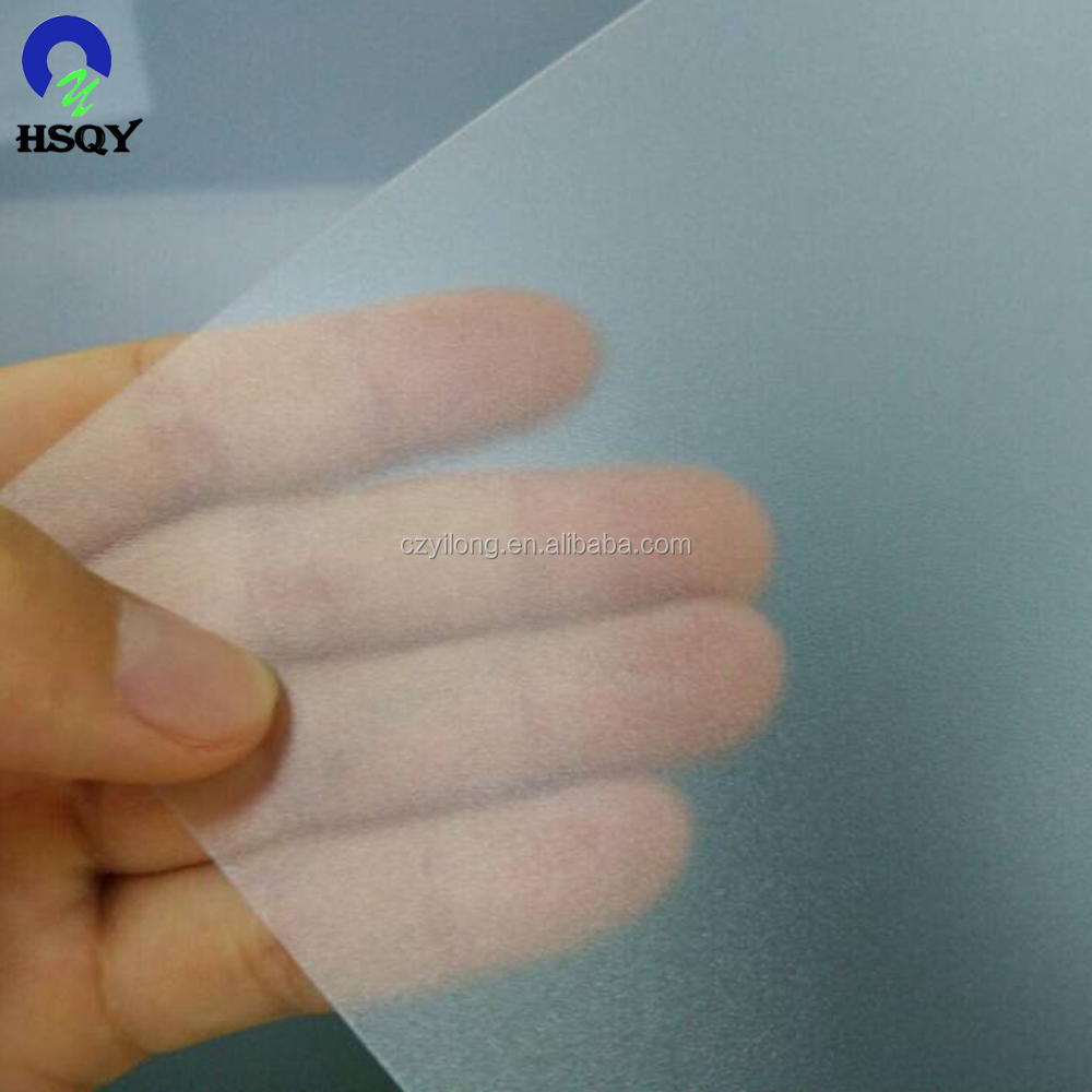 0.5mm Matte Clear Fine Frosted PVC Sheet