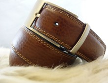 Fashion High Quality Reversible Removable Buckle Genuine Men Leather Belt