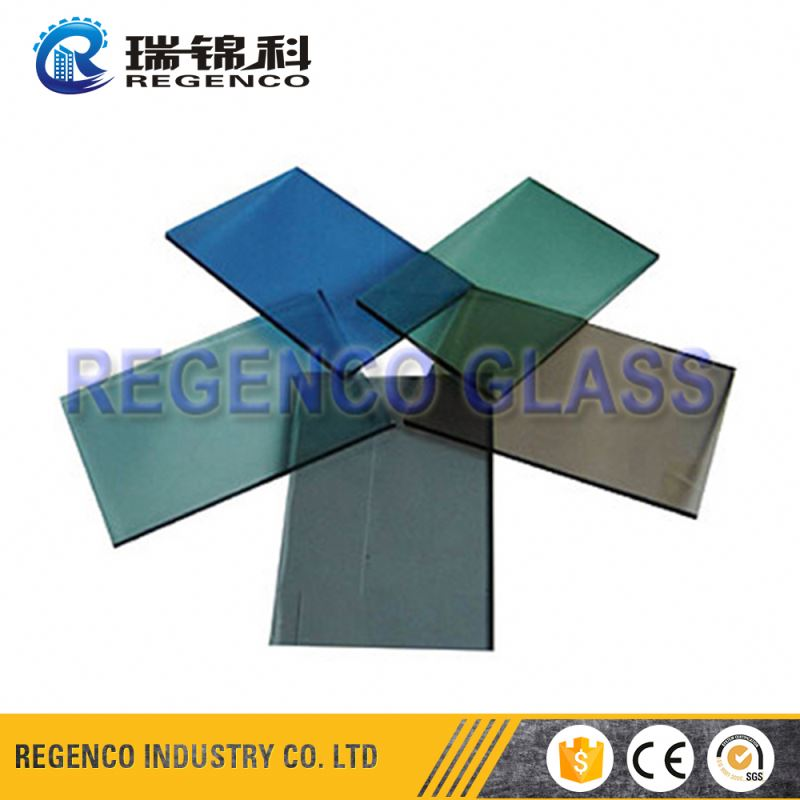 Colored Clear Tinted Float Tempered Building Glass