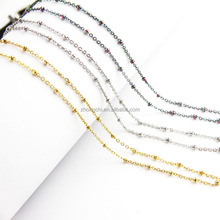 Jewelry wholesale colored stailess steel necklace chain ball chain