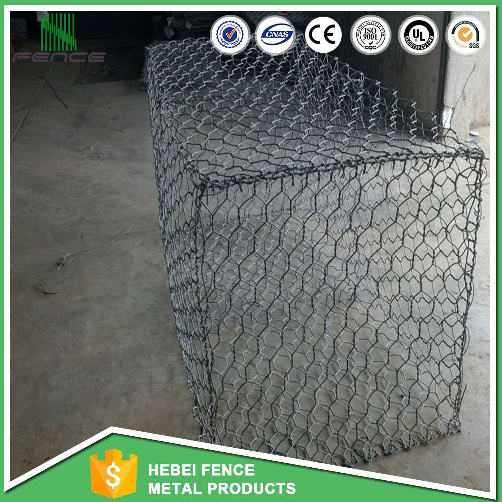 High quality hexagonal gabion mesh/glass rock for gabion basket