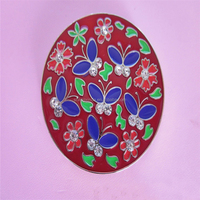 China Butterfly Collection Souvenir Gift Enamel Metal Purse Hook 0-3