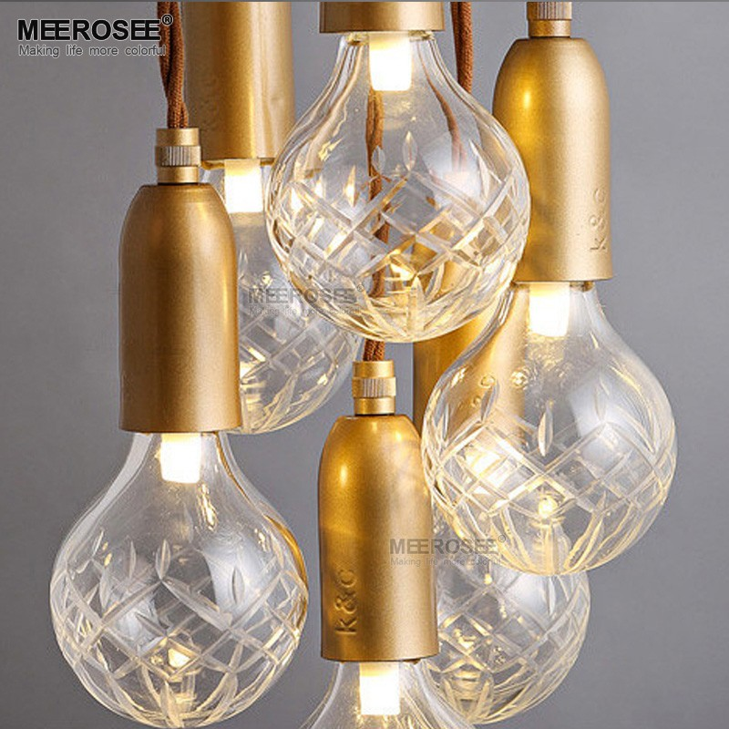 Glass Chandelier Lights Multi DIY Pendant Light Glass Modern Kitchen Designs for Party Decoration MD83008