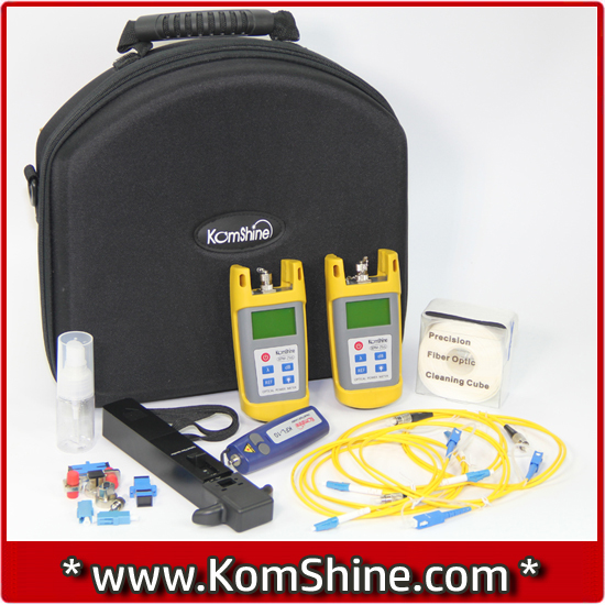 Economic Fiber Loss Tester KomShine KLT-25M-F OPM/ OLS / VFL / Optical Fiber Identifier