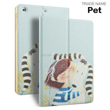 smart cover with case Pu leather case for ipad mini case for ipad mini