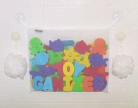 Bath Toy Organizer + 2 Bonus Strong Hooked Suction Cups
