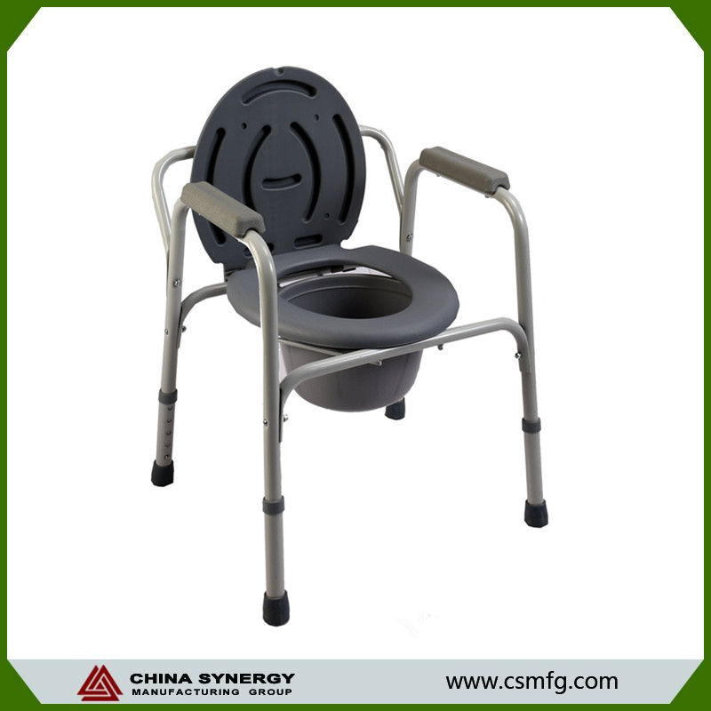 Hot sale medical plastic commode chair with toilet for disabled
