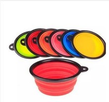 Hot sell silicone folding Pet dog bowls pet feeder