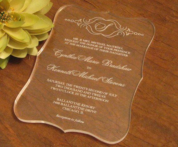 Пригласительные на свадьбу на стекле
