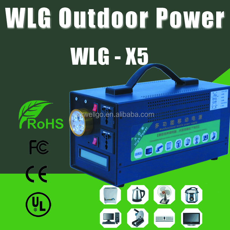 1000W UPS Battery Emergency lighting Battery Supply Portable UPS inverter For Home Outdoor Camping